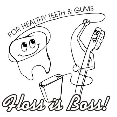Clipart Design Ideas Dental Floss Is Boss