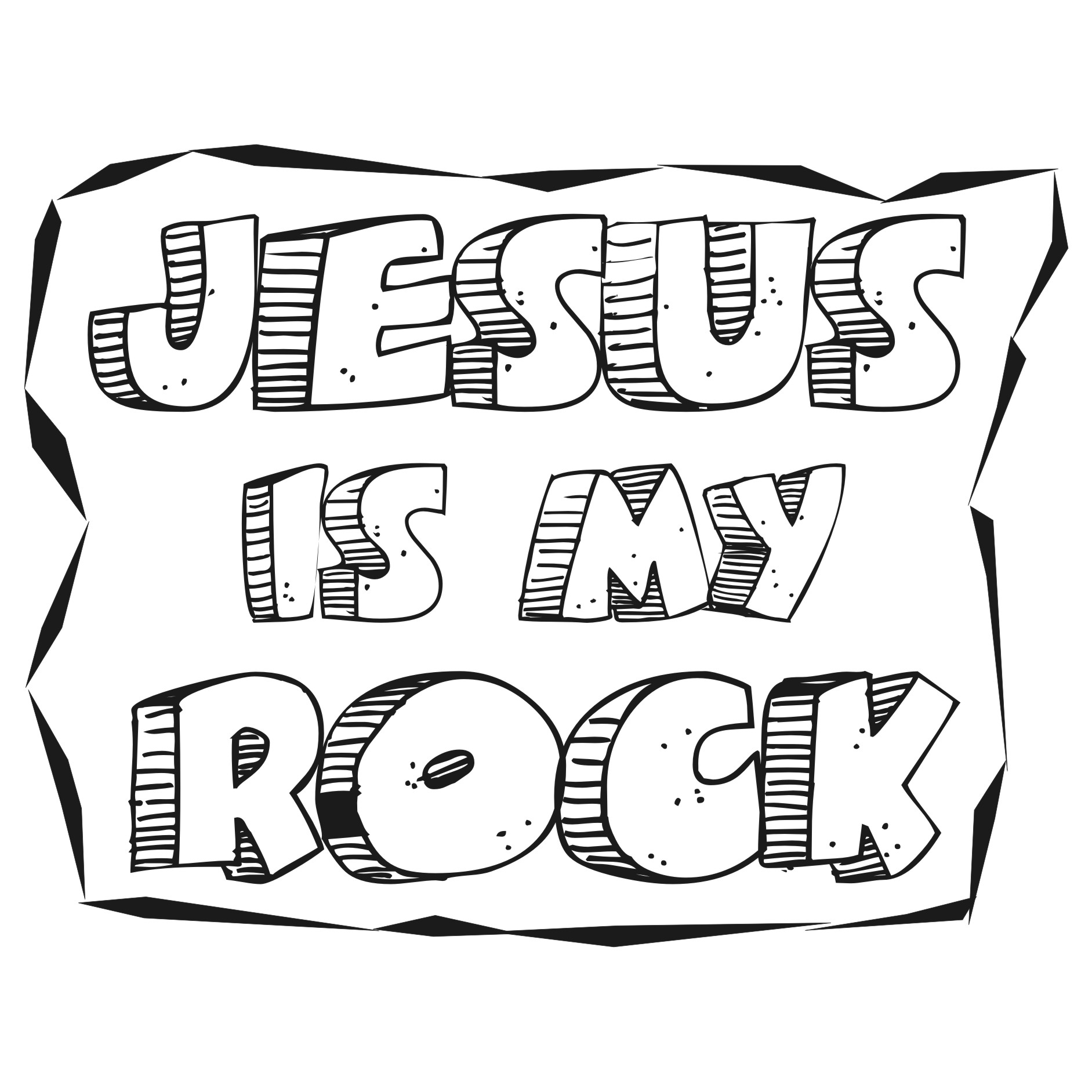jesus rocks coloring pages - photo#1