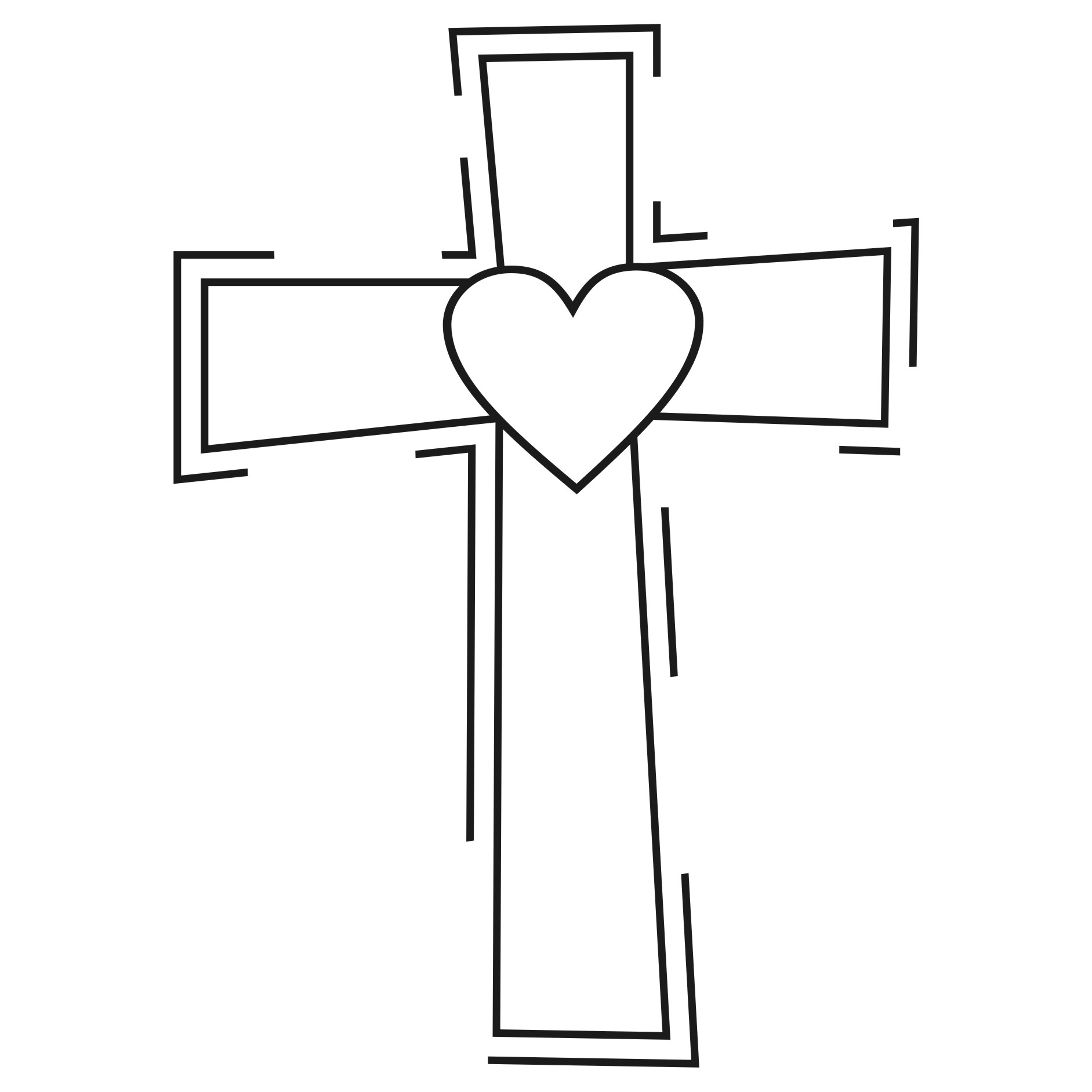 free cross and heart clipart - photo #8