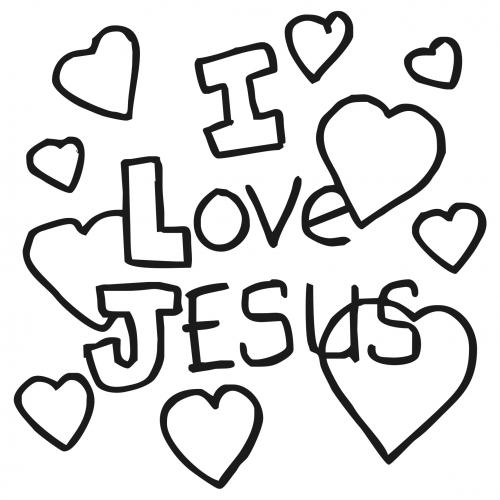 Images Of I Love Jesus Coloring Page